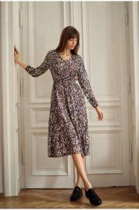 długa sukienka jesienna