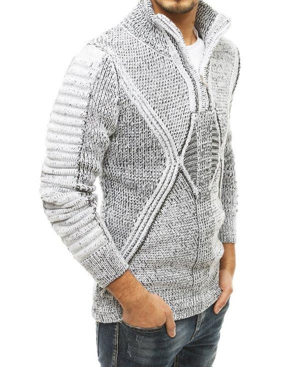 modny sweter męski z kołnierzem