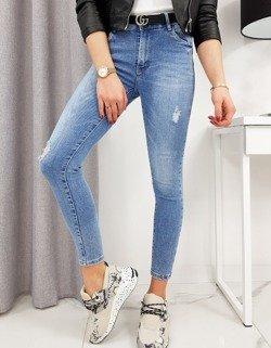 damskie spodnie jeansowe klasyczne