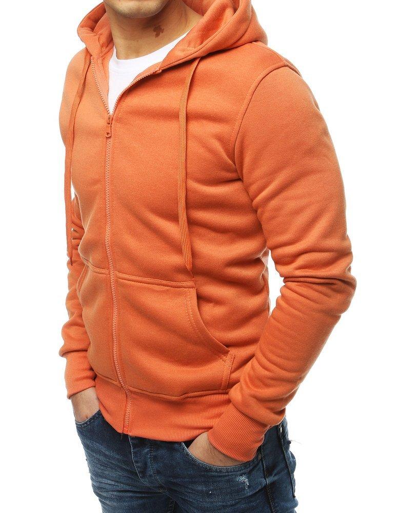 bluza sportowa z kapturem w kolorze łososiowym